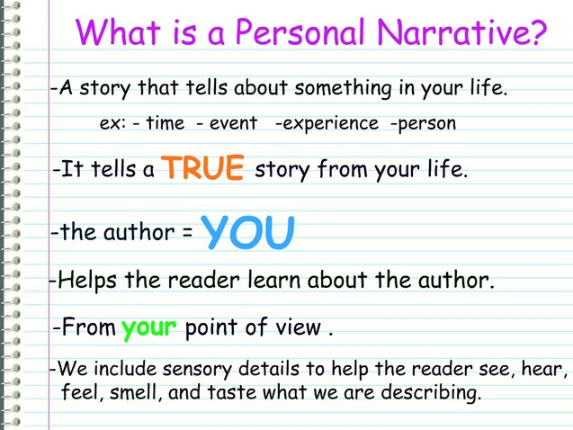 writing a good personal narrative essay What is a narrative essay when writing a narrative essay, one might think of it as telling a story these essays are often anecdotal, experiential, and personal.