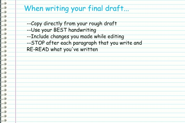 definition essay final draft Rough draft monday april 3 final draft friday april 7via turnitincom definition essay rubric definition rubric: file size: 35 kb:.